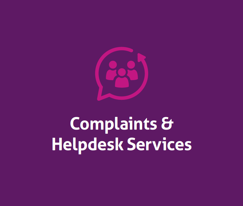 Brochure: Complaints & Helpdesk Services